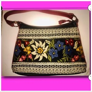 Isabella Fiore Beaded & Embroidered Bag, New